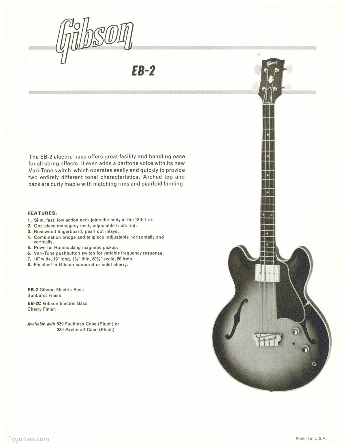 196465 Gibson Eb2 Promo Sheet: 335 Humbucker Wiring Diagram At Eklablog.co
