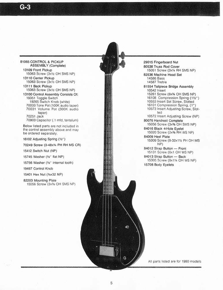 gibson g 3 bass guitar parts lists flyguitars. Black Bedroom Furniture Sets. Home Design Ideas
