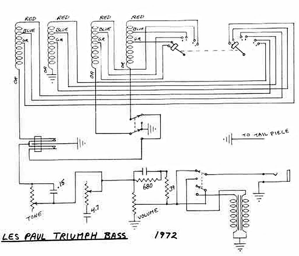 1970 Gibson Les Paul Wiring Diagram Library 50 Triumph Bass Circuitry
