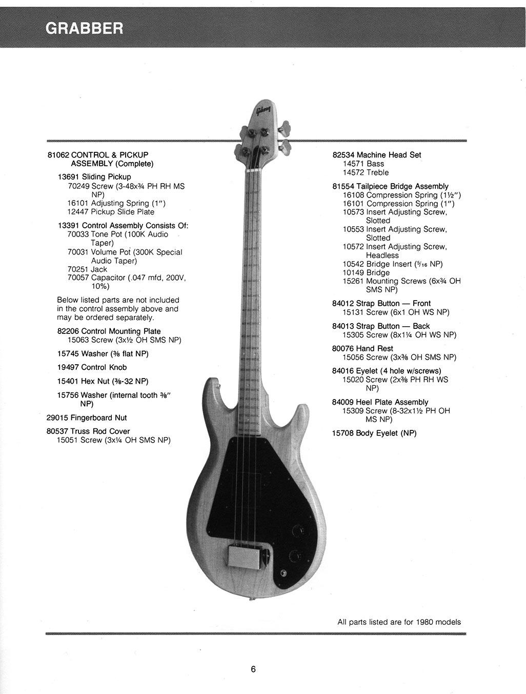 gibson grabber bass guitar parts lists flyguitars. Black Bedroom Furniture Sets. Home Design Ideas