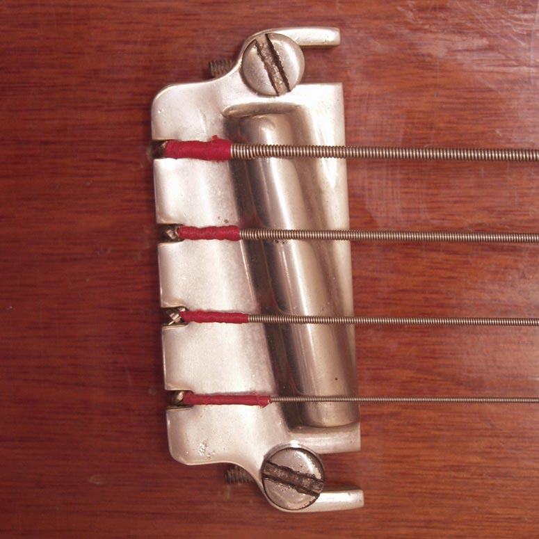 Gibson bass bar bridge - mounted on a Gibson EB bass