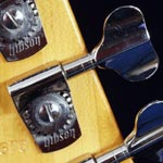 1980s Gotoh tuning keys on a Gibson Victory Standard bass - rear headstock view
