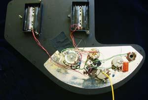 gibson ripper bass guitar wiring diagram and photographs