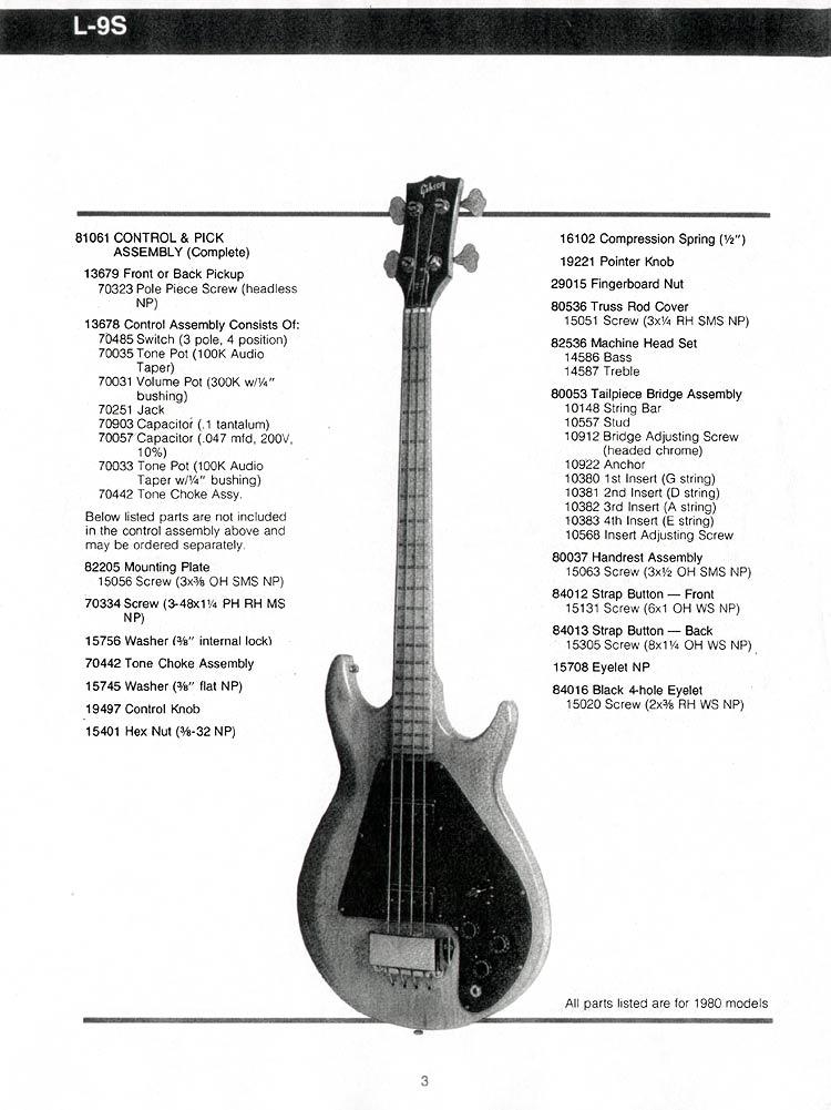 gibson ripper bass guitar parts lists flyguitars. Black Bedroom Furniture Sets. Home Design Ideas