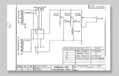 Gibson Ripper Bass Guitar wiring schematic >> FlyGuitars